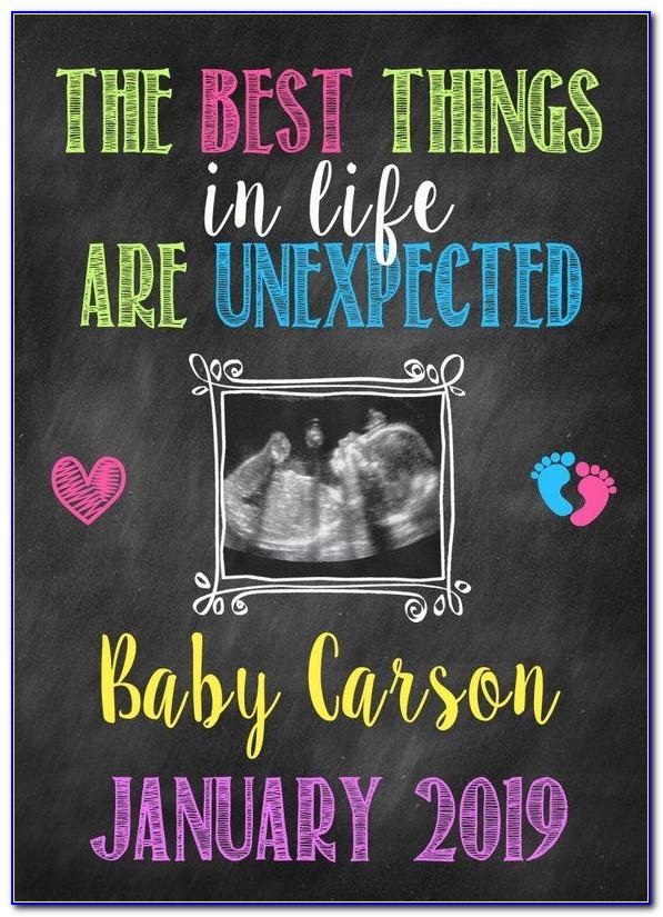 Unplanned Pregnancy Announcement Ideas