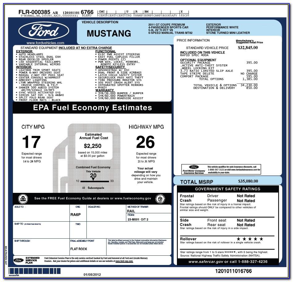 Vehicle Invoice Price Lookup