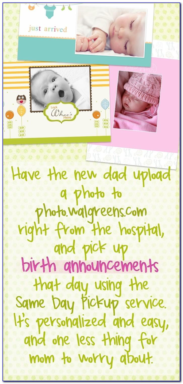 Walgreens Birth Announcements