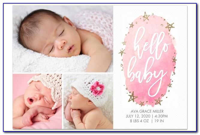 Walgreens Photo Birth Announcements