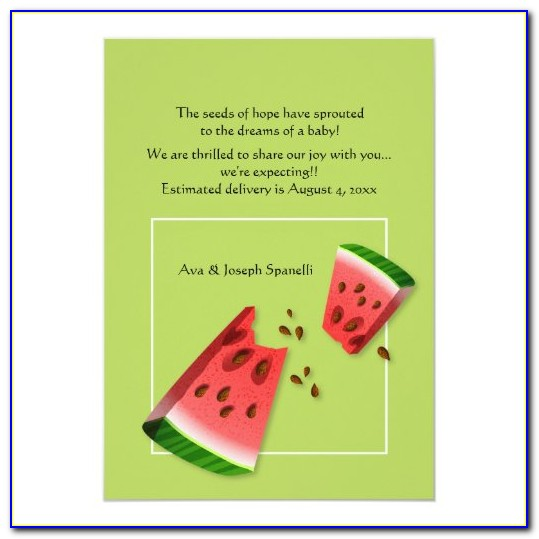 Watermelon Pregnancy Announcement