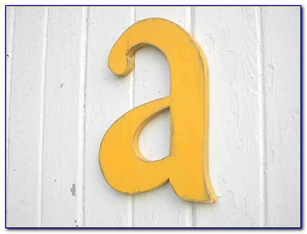 12 Inch Wood Letters For Sale