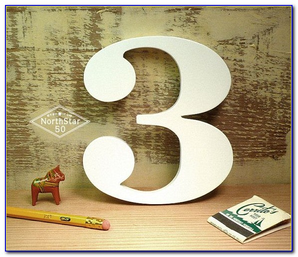 3 Wood Letters And Numbers