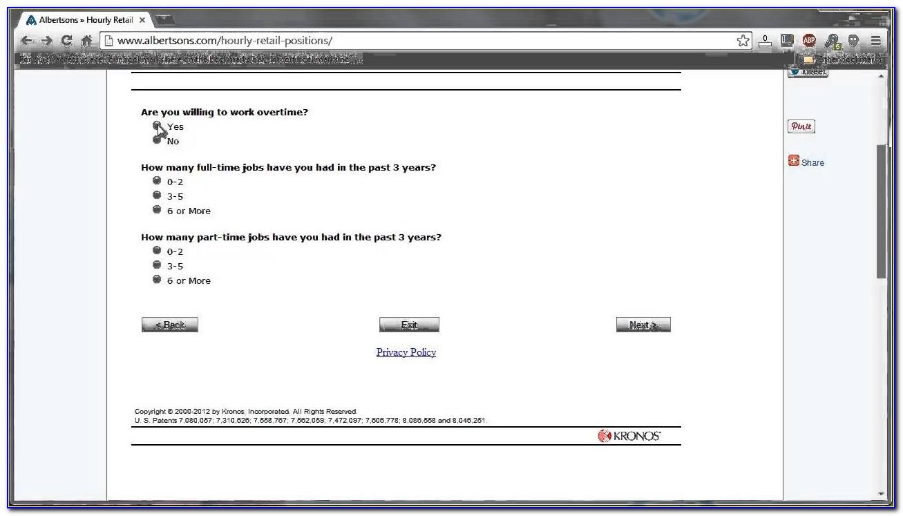 Albertsons Job Applications
