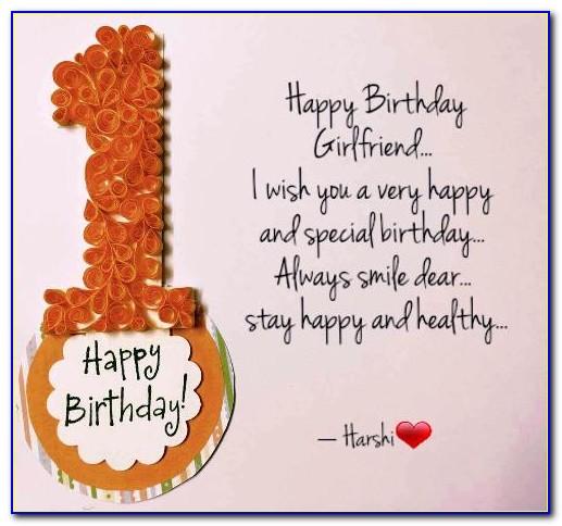 Best Happy Birthday Letter To Girlfriend