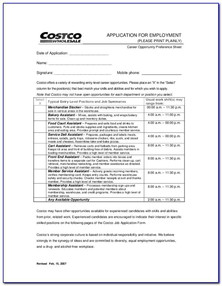 Costco Application Job Online
