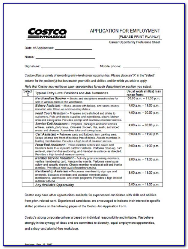 Costco Job Application Login