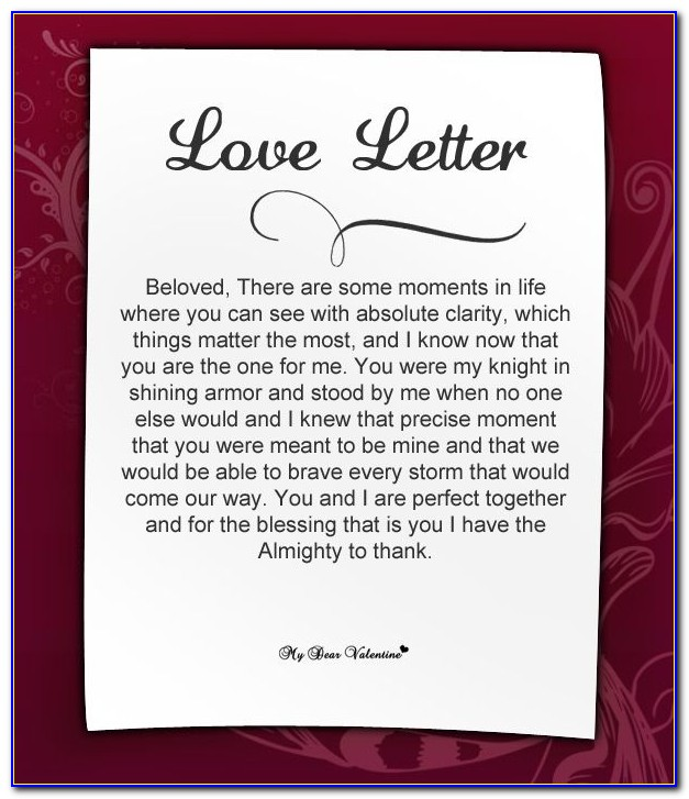Cute Love Letters For Her To Wake Up To