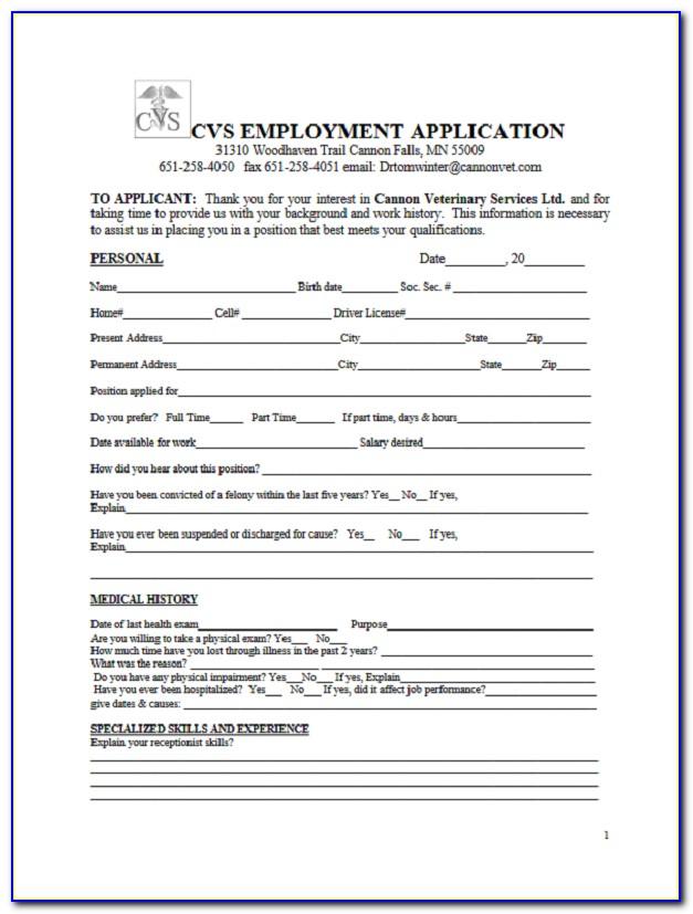 Cvs Pharmacy Job Application Login