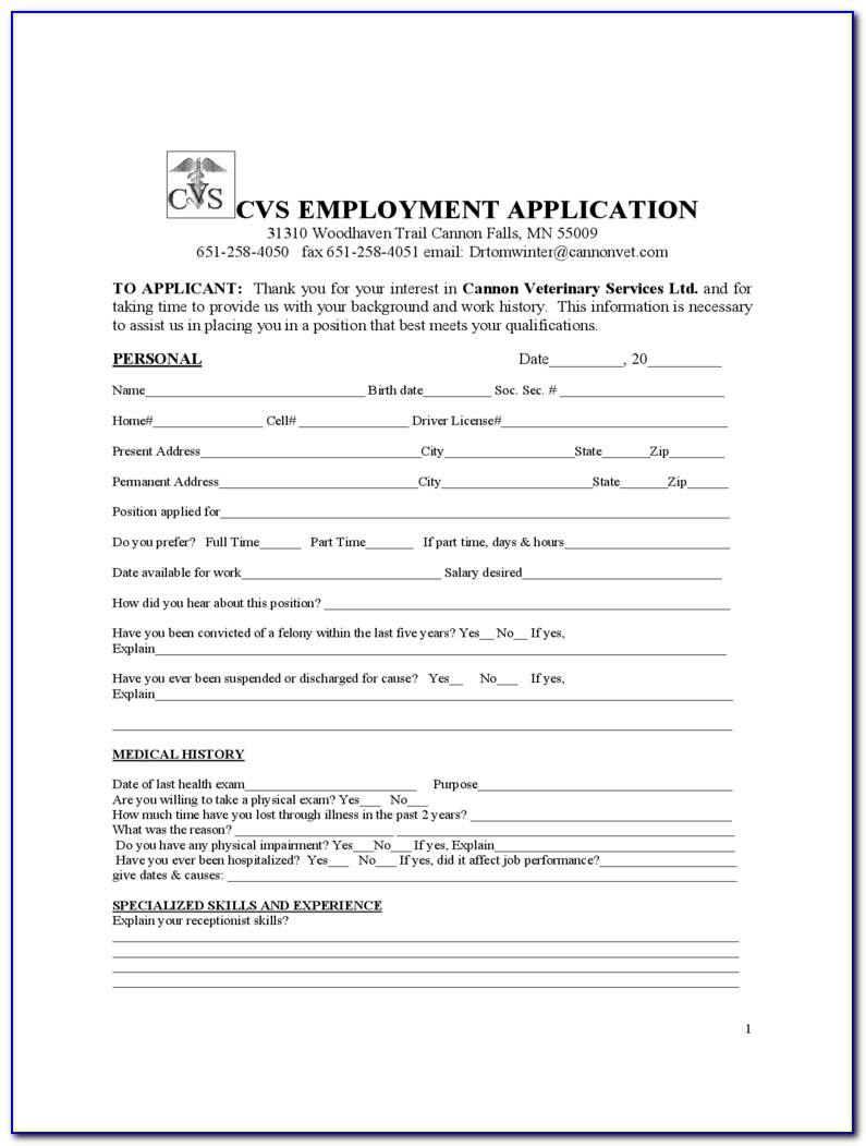 Cvs Pharmacy Job Applications