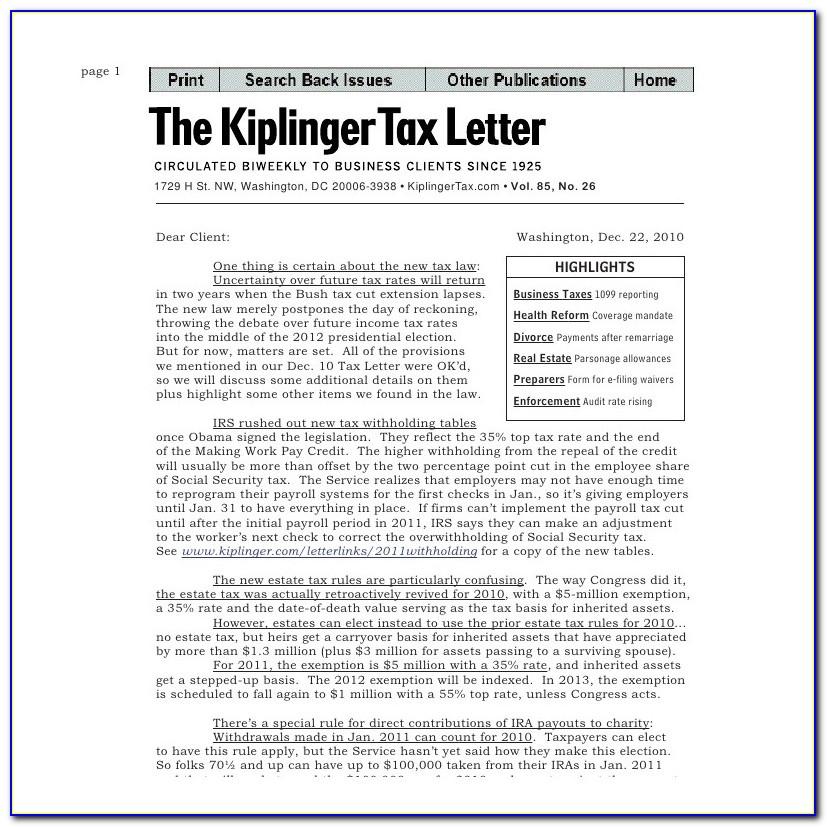 Kiplinger Tax Letter Login