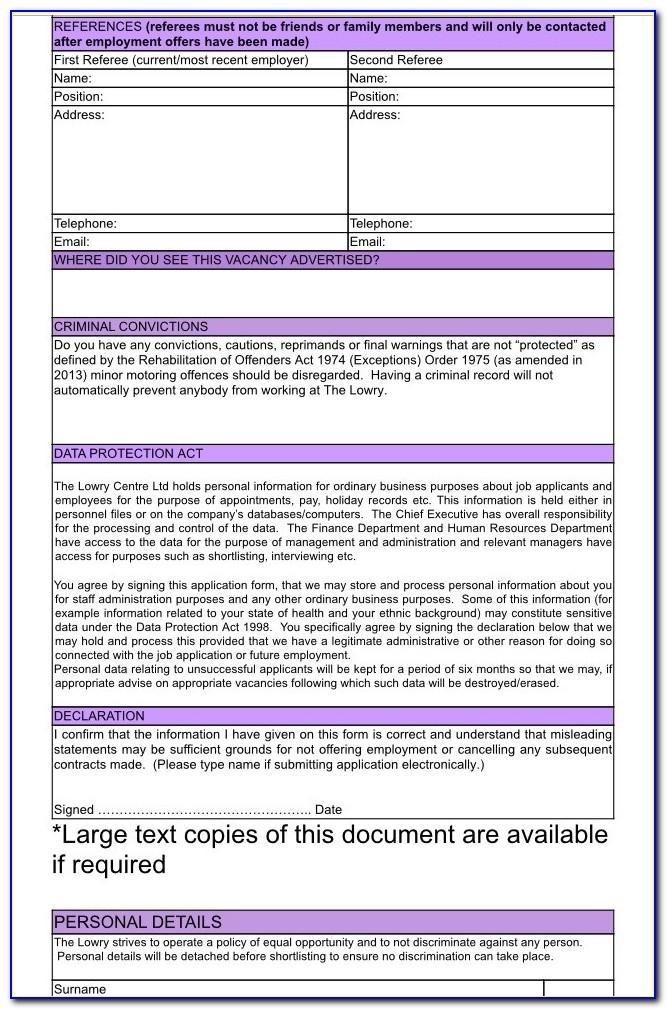 Levi's Job Application Form Pdf