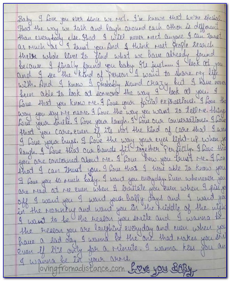 Long Distance Love Letters For Girlfriend