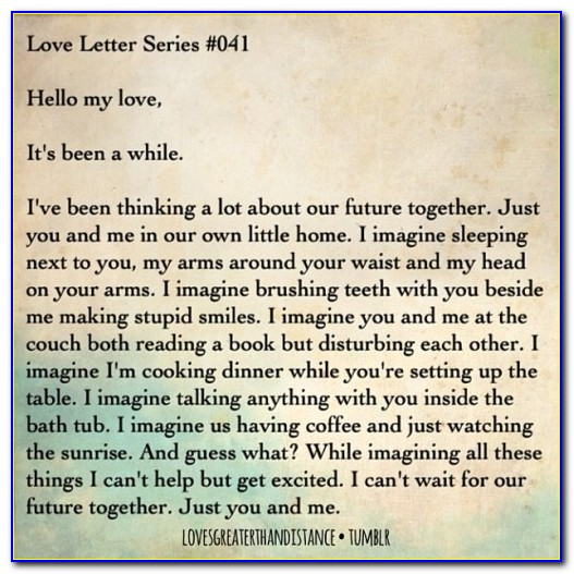 Long Distance Love Letters For Her Tumblr