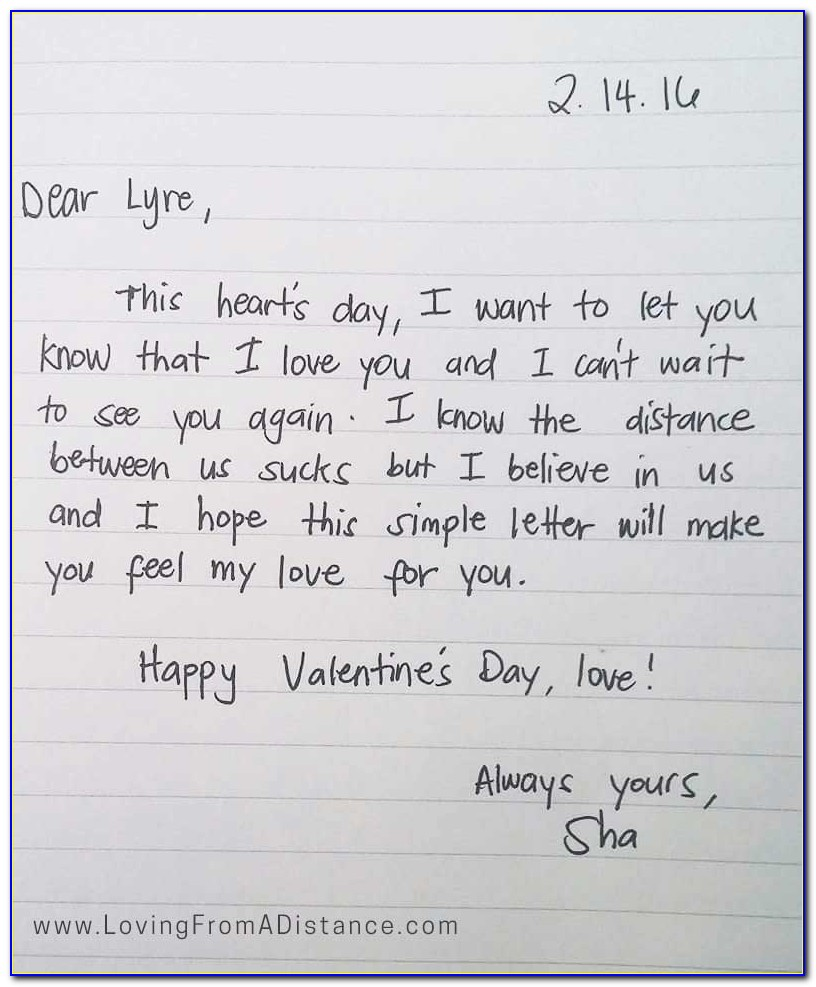 Long Distance Love Letters For Her