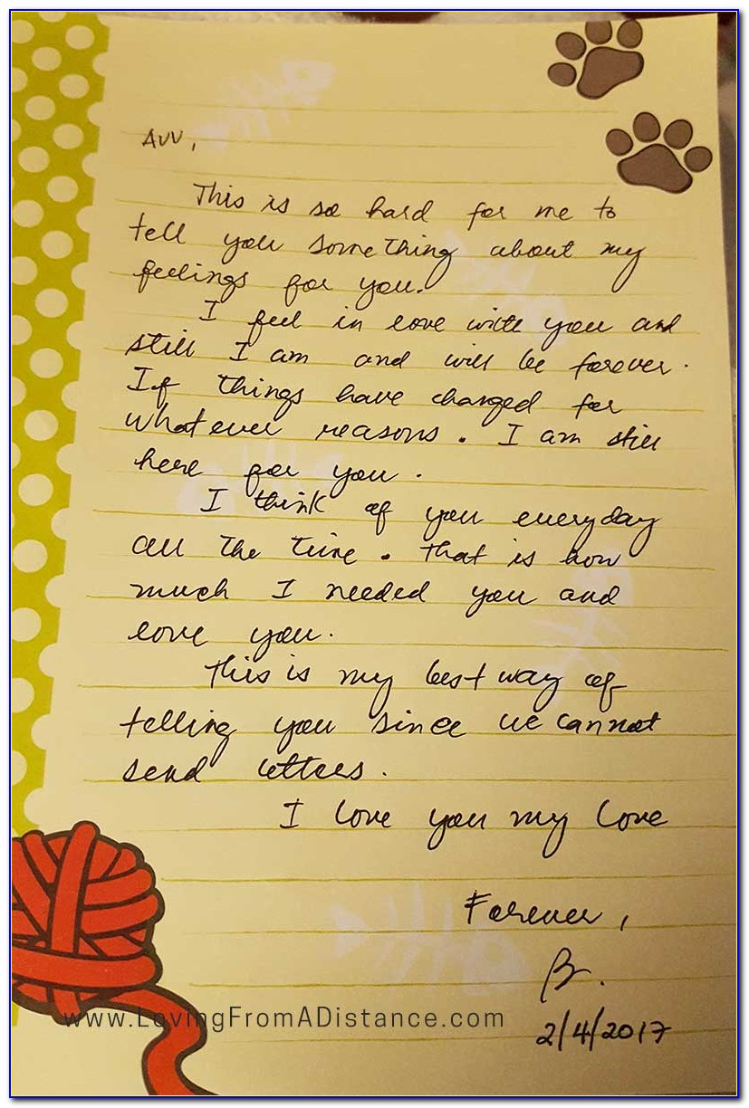 Long Distance Love Letters For Him From The Heart