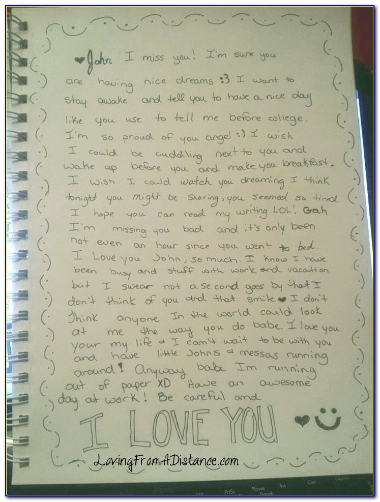 Long Distance Love Letters To Your Girlfriend