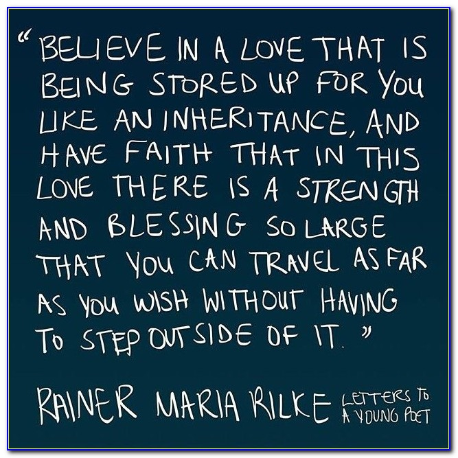 Rilke Letters To A Young Poet Love