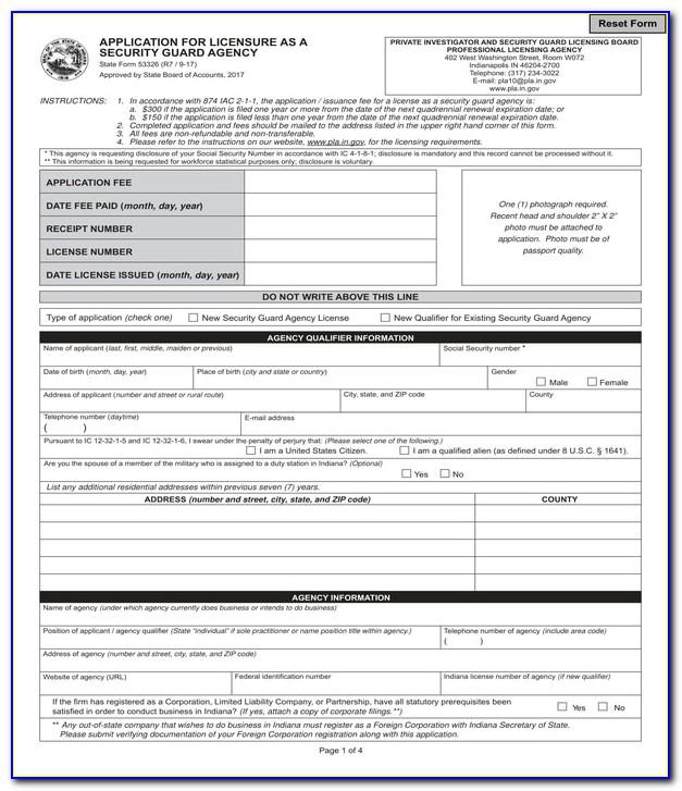 Security Guard Job Application Letter Format