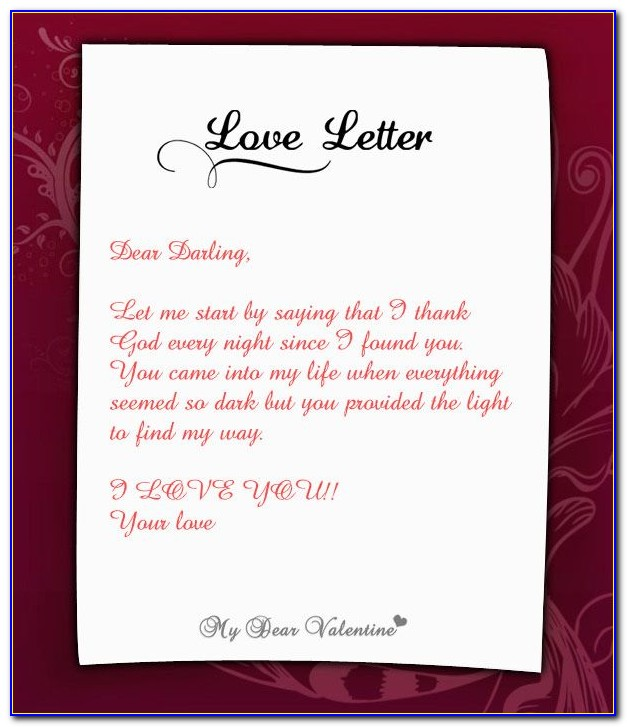 Super Cute Love Letters For Her