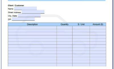 Used Vehicle Invoice Template