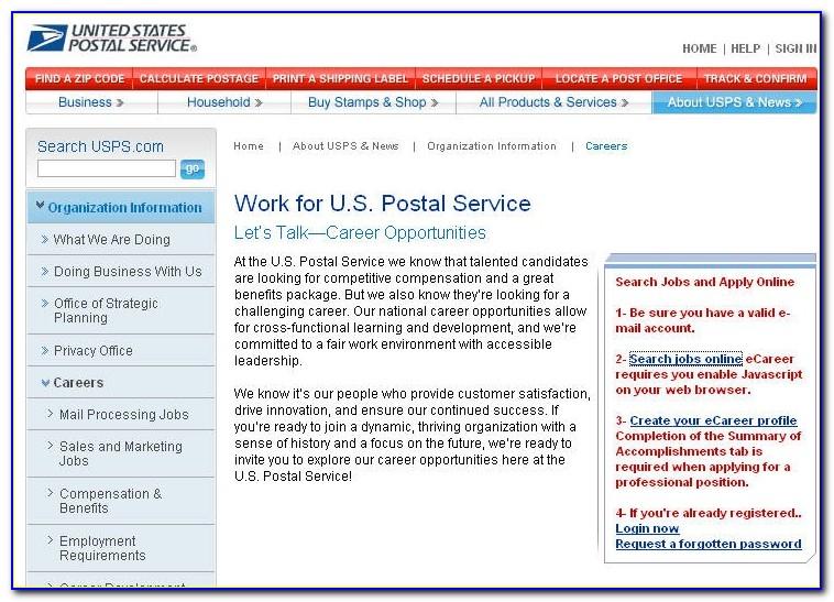 Usps Jobs Application Login